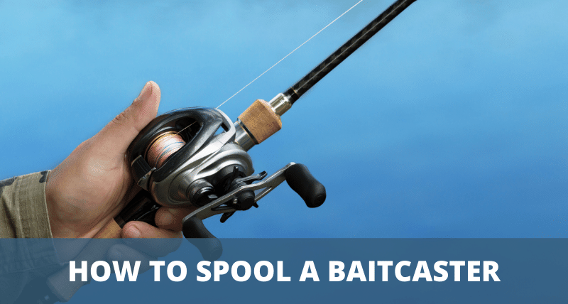 Photo of baitcasting reel being filled with line