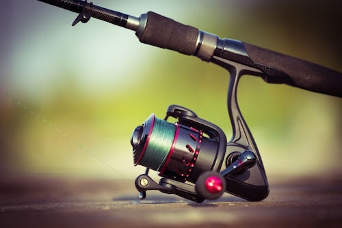 Photo of spinning reel attached to rod