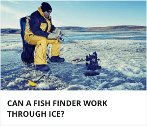Can a fishfinder work through ice