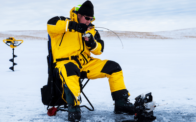 Can you use a regular fishing rod for ice fishing?