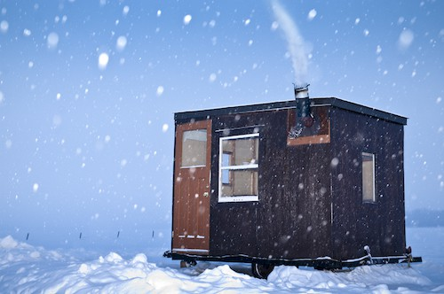 Photo of ice shanty