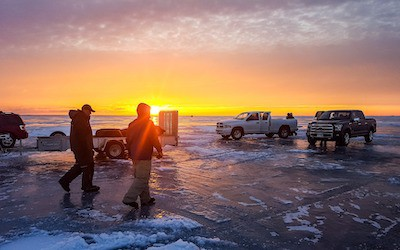 Lake of the woods ice fishing report