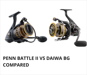 Penn battle 2 vs daiwa bg