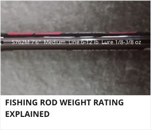 Fishing rod weight