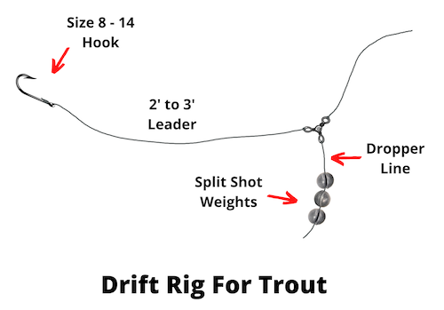 Drift rig for trout