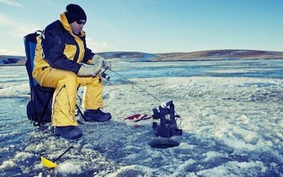 Can a fish finder work through ice